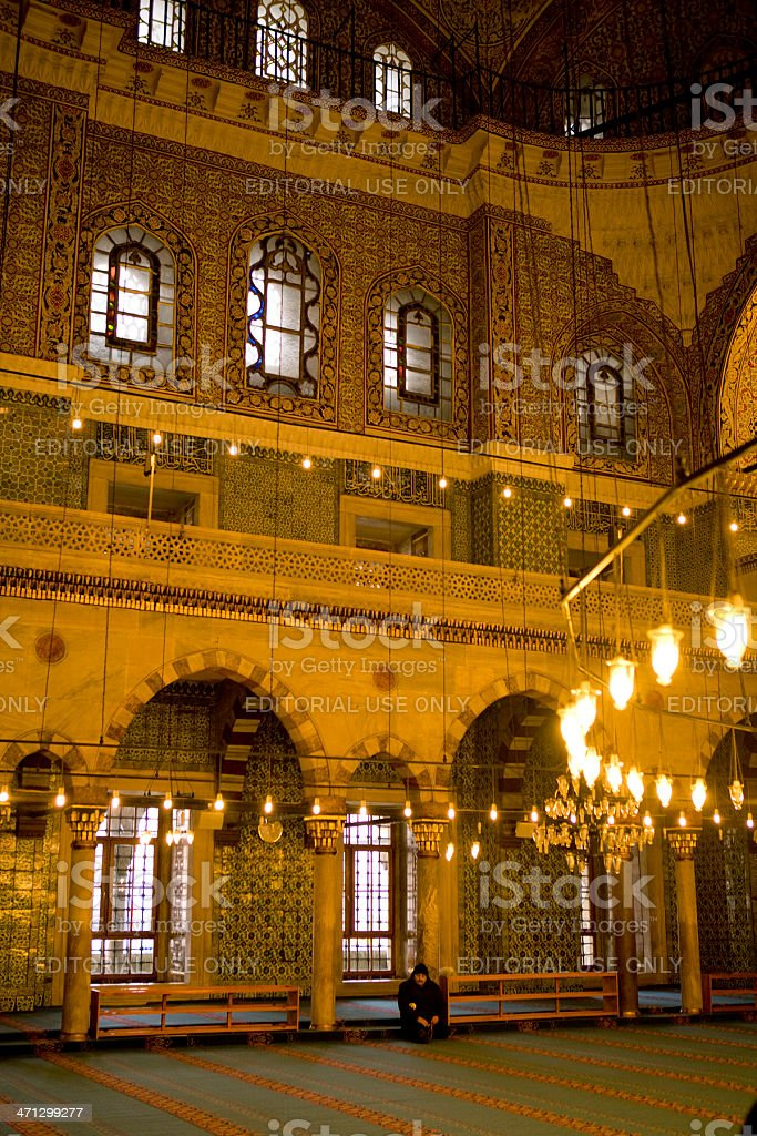 The new Mosque, Istanbul. stock photo