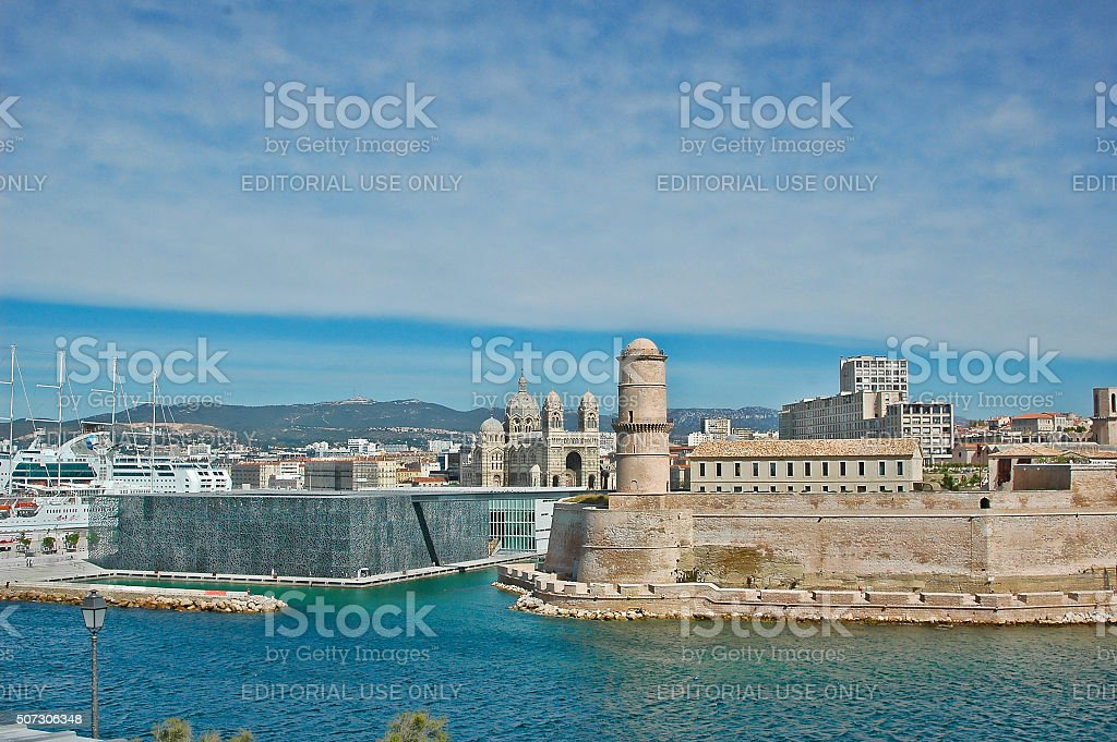 The new Museum of european and Mediterranean Civilisations in Marseille stock photo