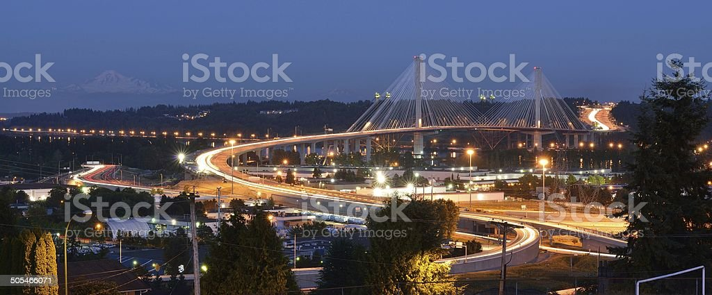 The New Port Mann Bridge stock photo