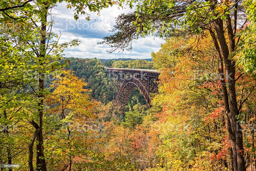 The New River Gorge Bridge In West Virginia stock photo