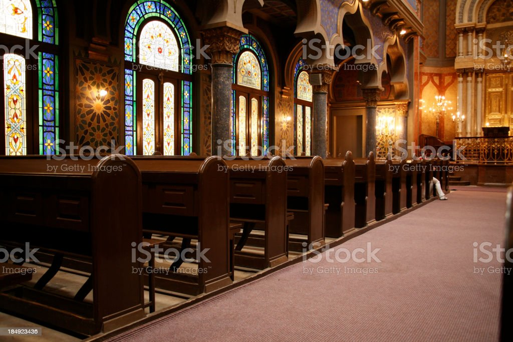 The new synagoge in prague.... stock photo