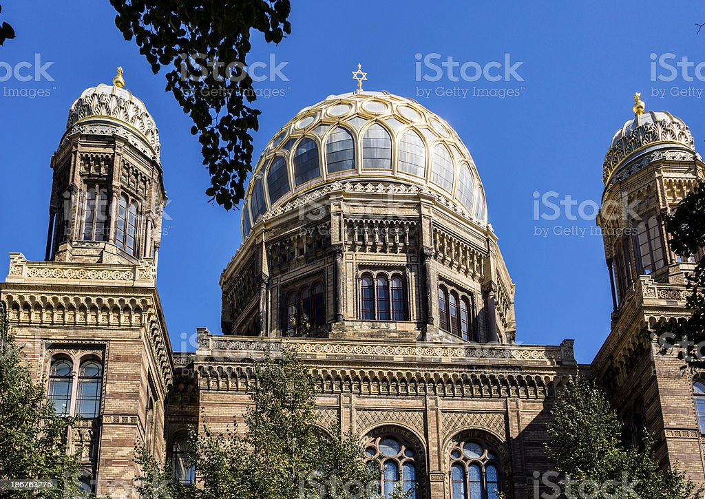 The New Synagogue in Berlin royalty-free stock photo