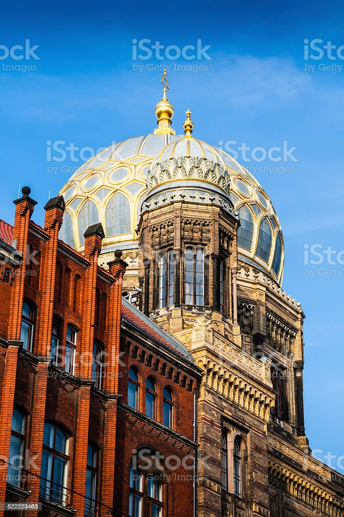 The New Synagogue is the main synagogue in Berlin, Germany stock photo