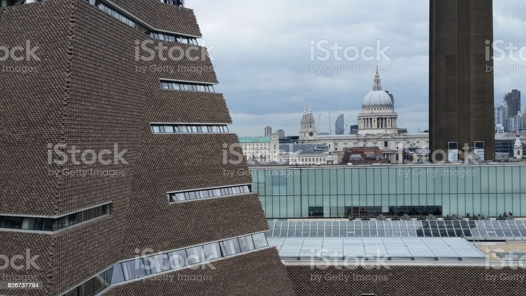 The New Tate Modern Gallery building in London stock photo