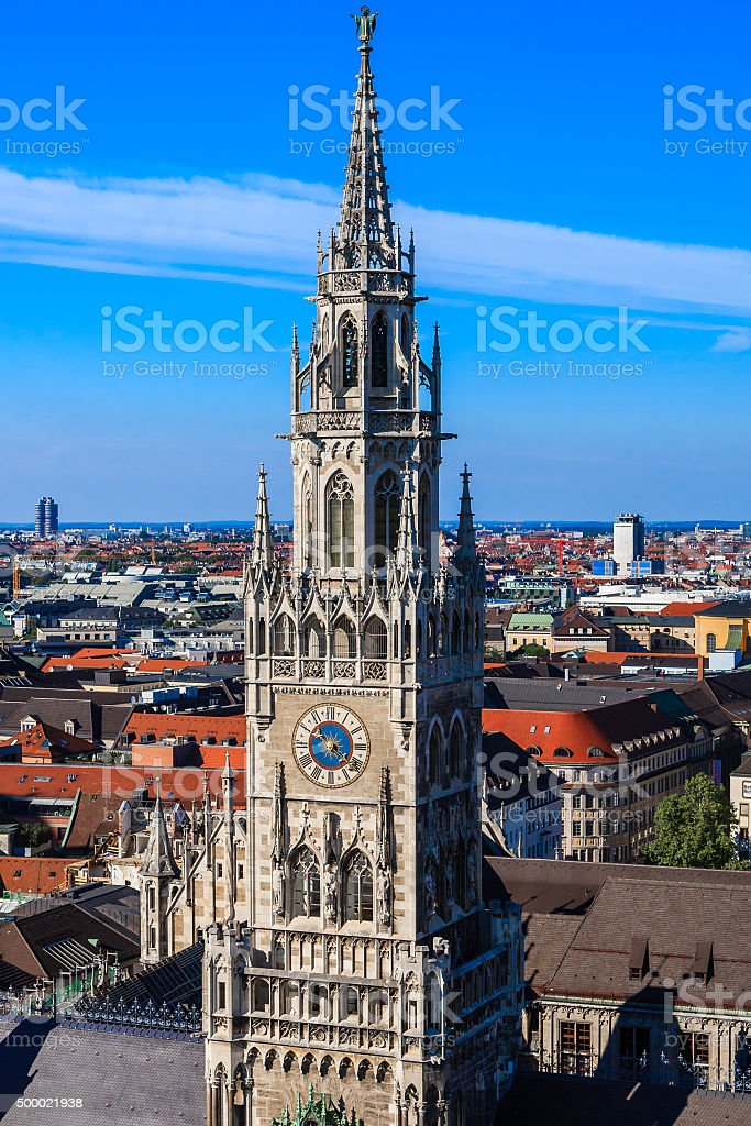 The New Town Hall, Munich, Bavaria, Germany stock photo