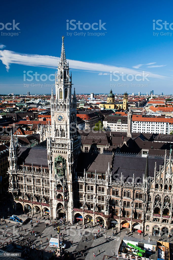 The New Town Hall Munich stock photo