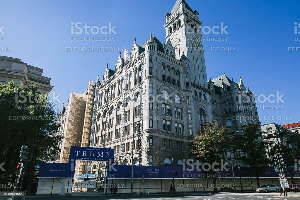 The new Trump hotel in the Old Post Office stock photo