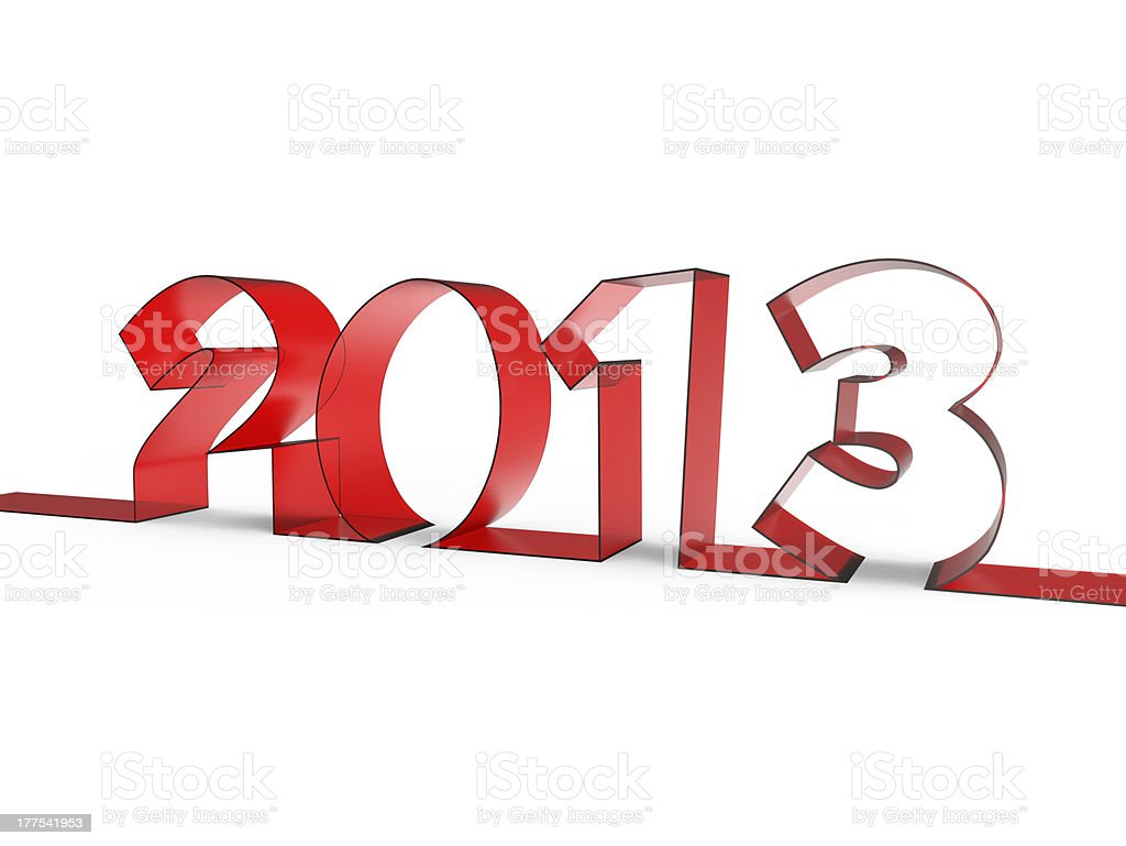 The new year 2013 royalty-free stock photo