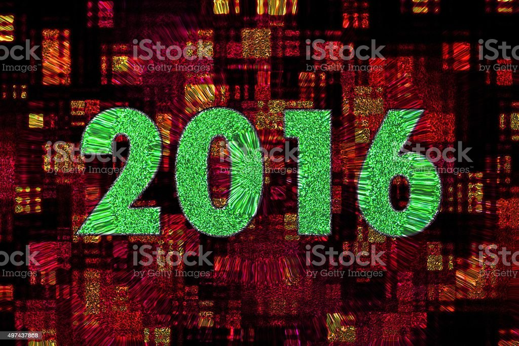 2016 The New Year stock photo