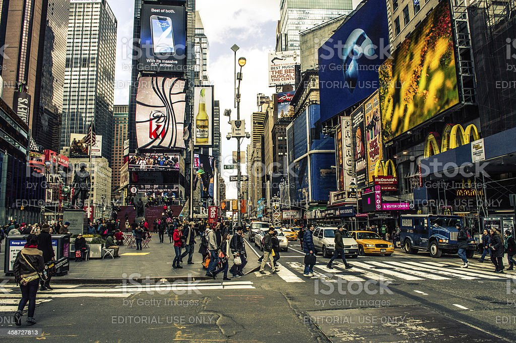 The New York Bustle royalty-free stock photo