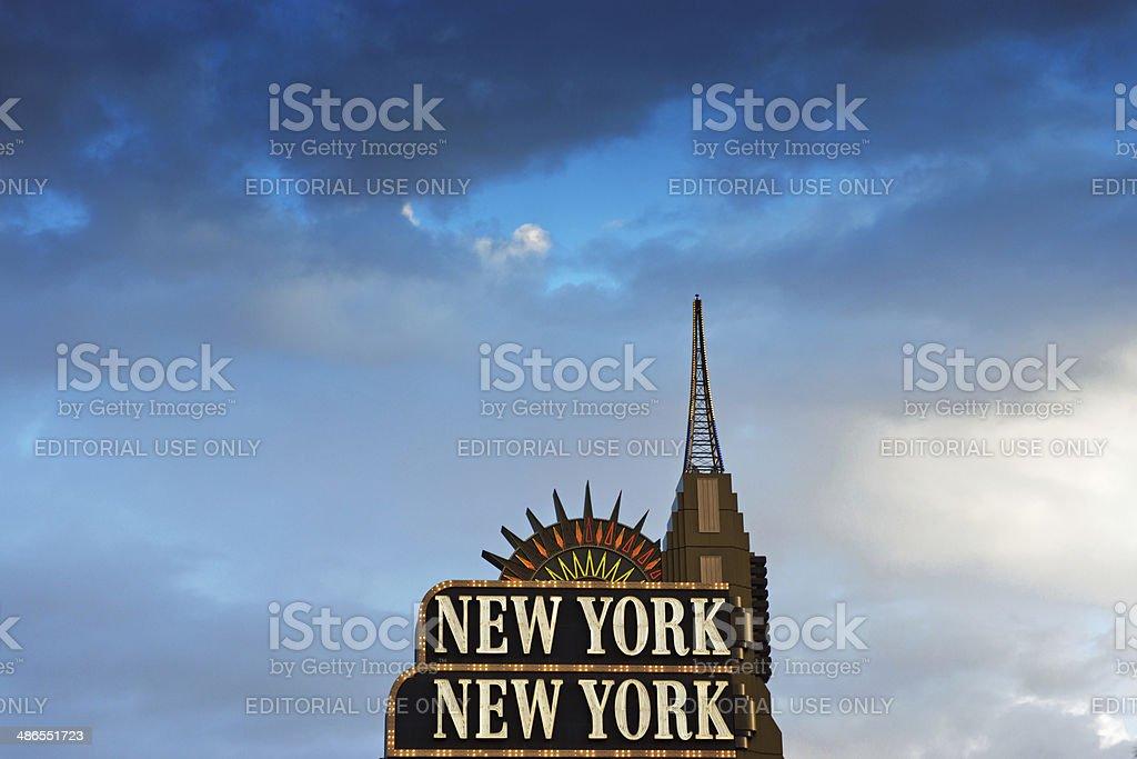 The New York New York Hotel royalty-free stock photo