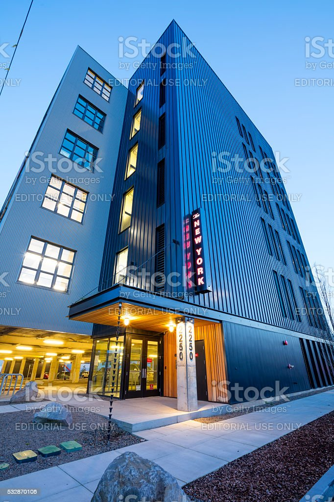The New York Portland Industrial. stock photo