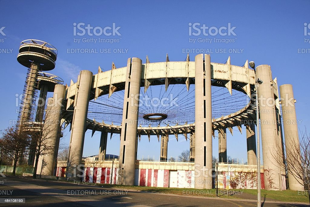 The New York State Pavilion From 1964-65 New York World's Fair stock photo