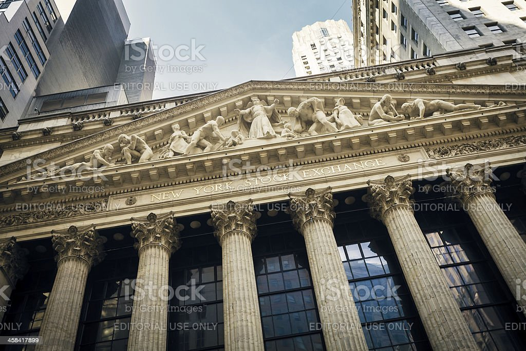 The New York Stock Exchange, United States royalty-free stock photo