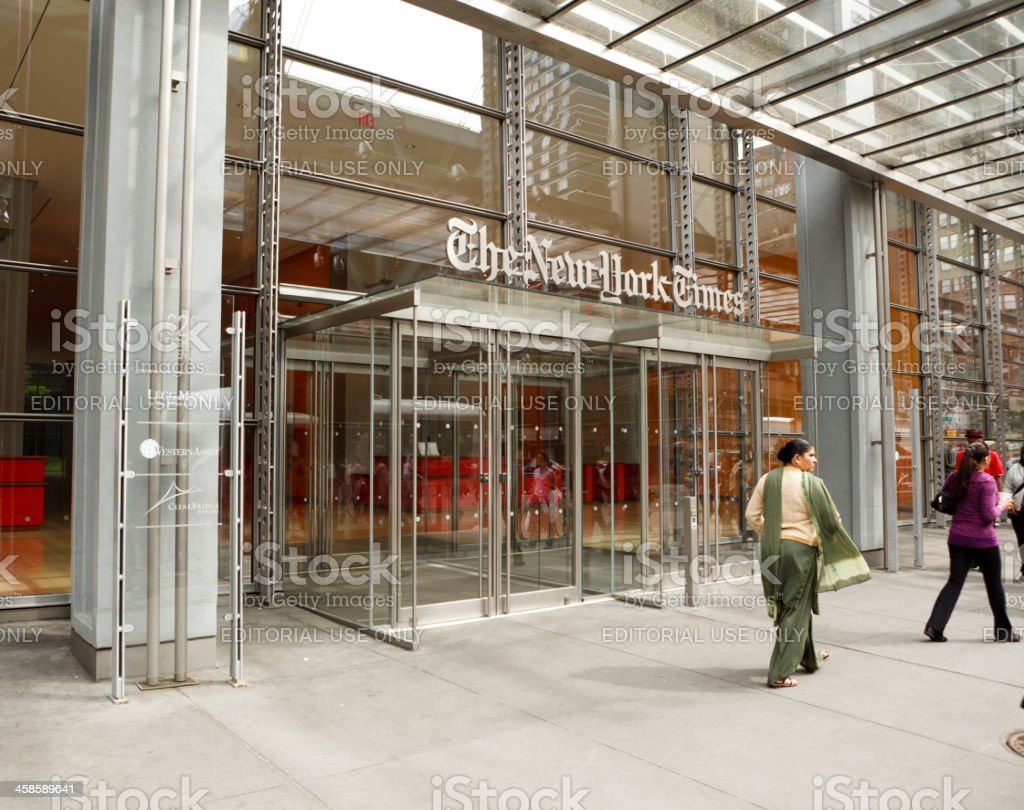 The New York Times Building Manhattan royalty-free stock photo