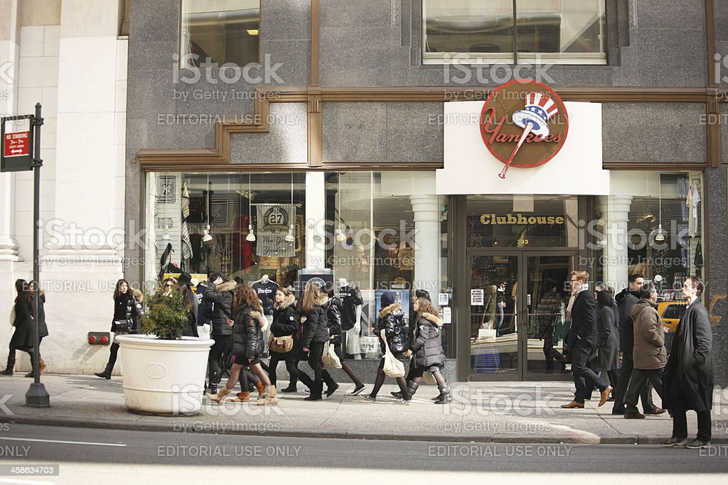 The New York Yankees Store royalty-free stock photo