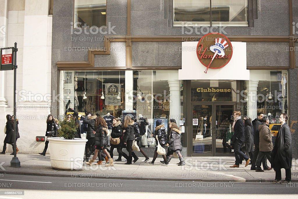 The New York Yankees Store stock photo