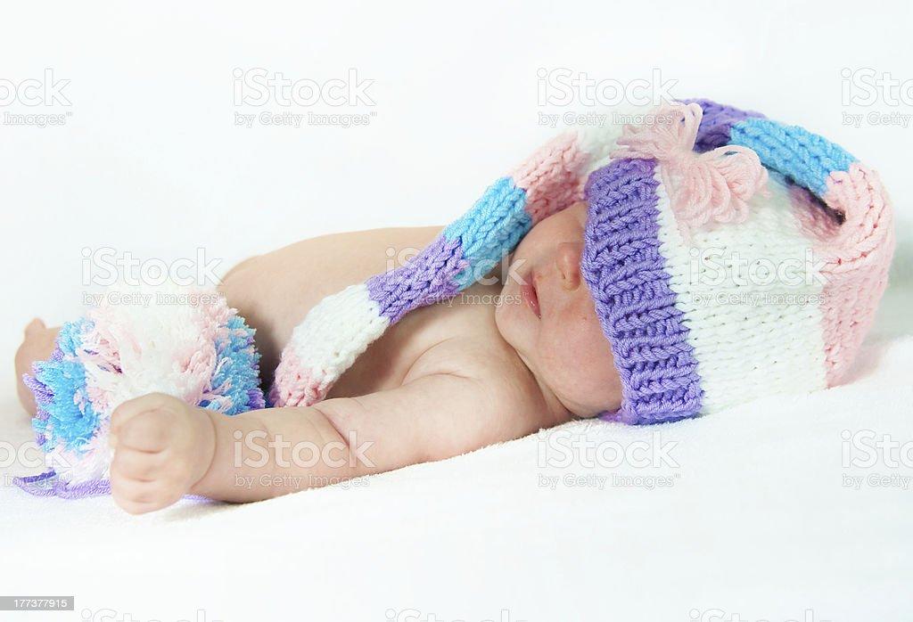 The newborn child royalty-free stock photo