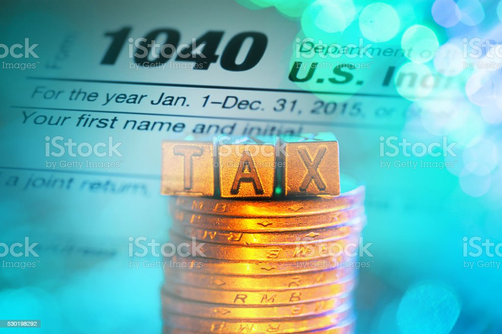 the newest 1040 tax form stock photo