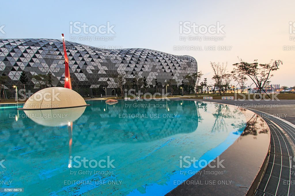 The newly opened Kaohsiung Exhibition Center stock photo