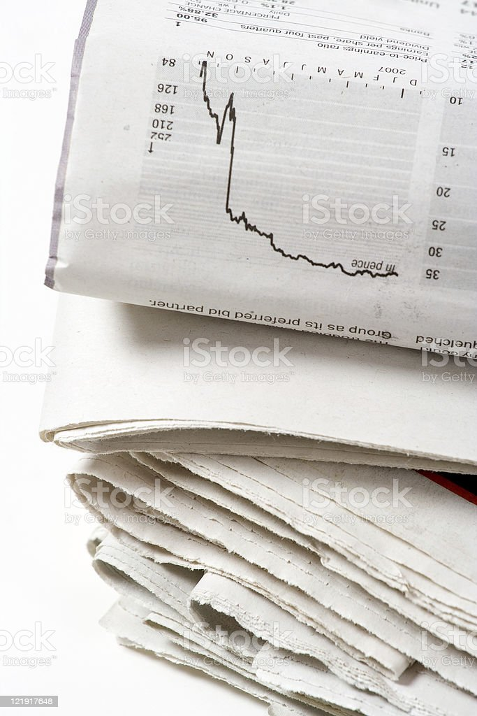 the news & finance royalty-free stock photo