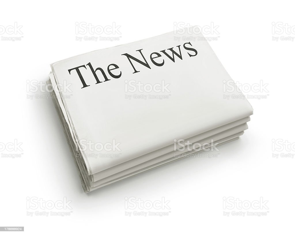 The News royalty-free stock photo