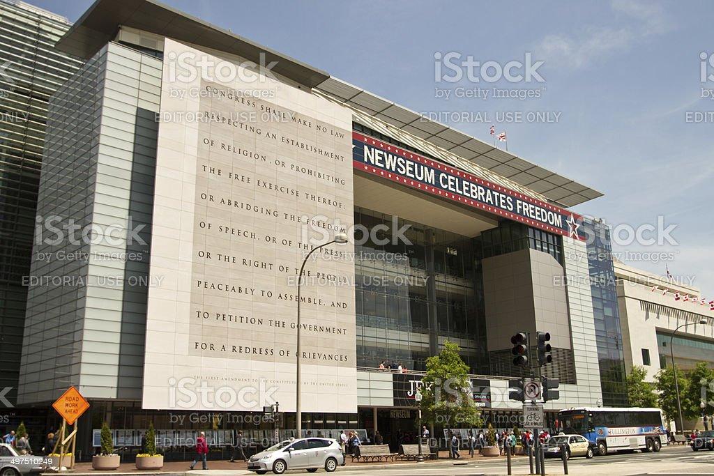The Newseum building in Washington DC stock photo