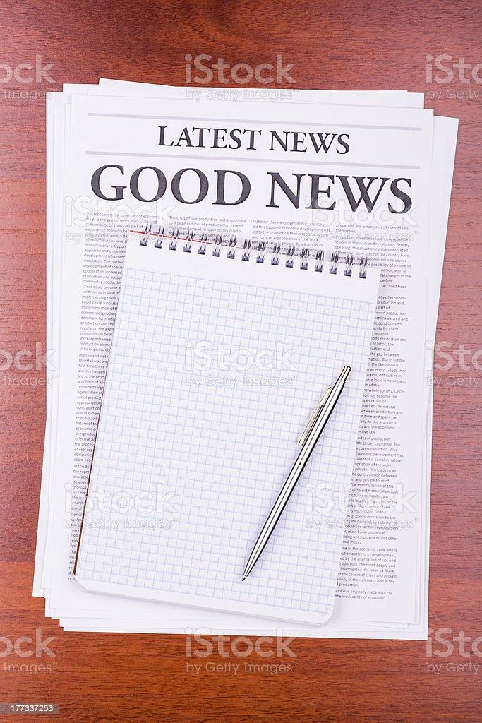 The newspaper GOOD NEWS royalty-free stock photo