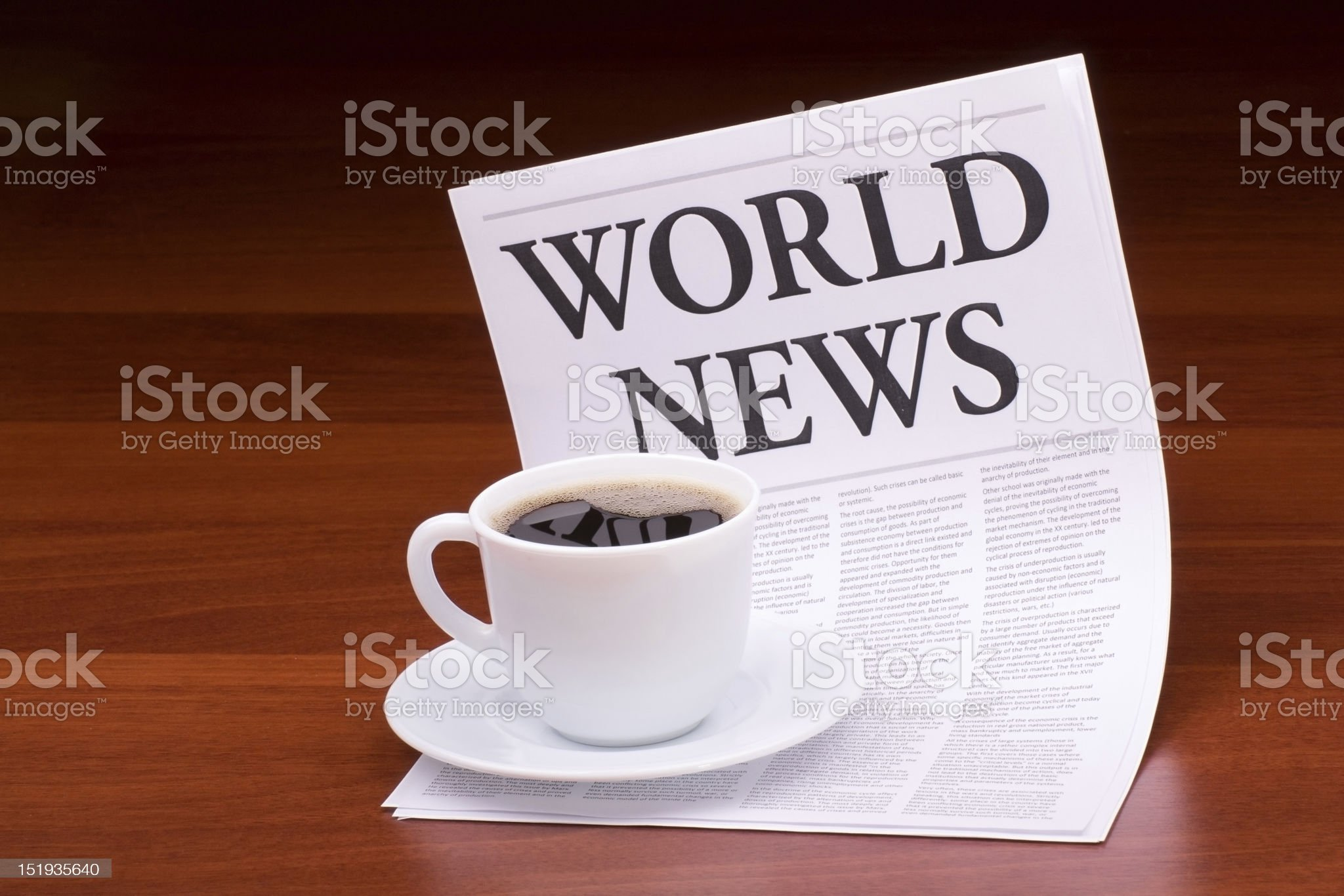The newspaper WORLD NEWS royalty-free stock photo
