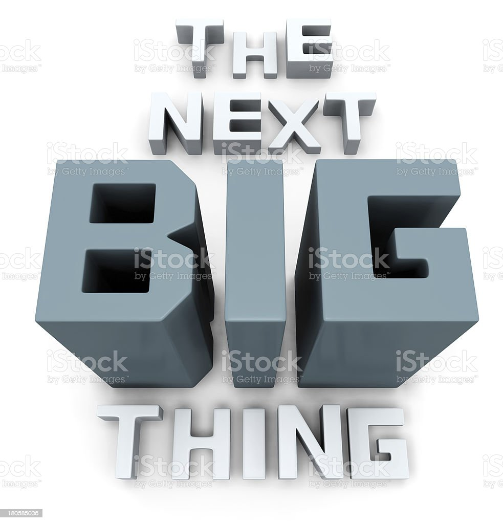 The next big thing coming soon stock photo