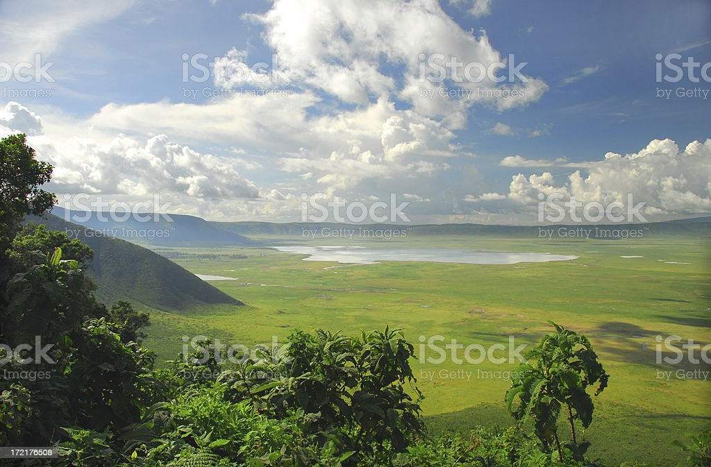 The Ngorongoro Crater Conservation Area in Tanzania stock photo