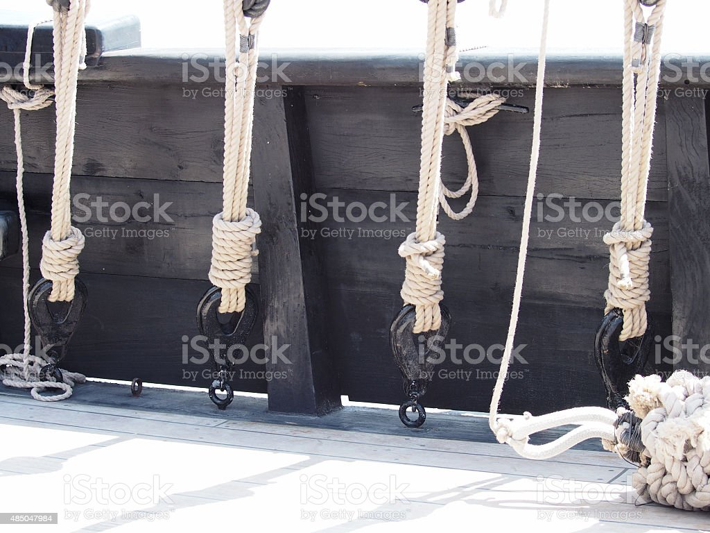 The Ni?a Main Rope Rigging stock photo