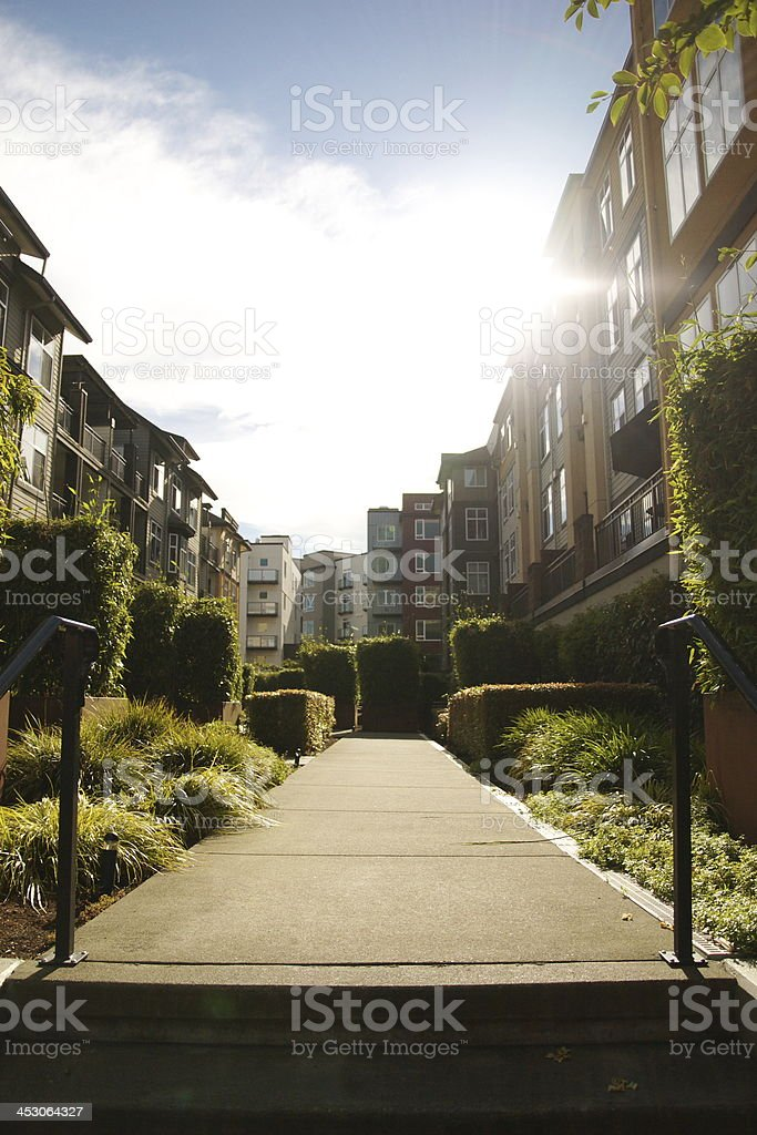 The nice resident area stock photo