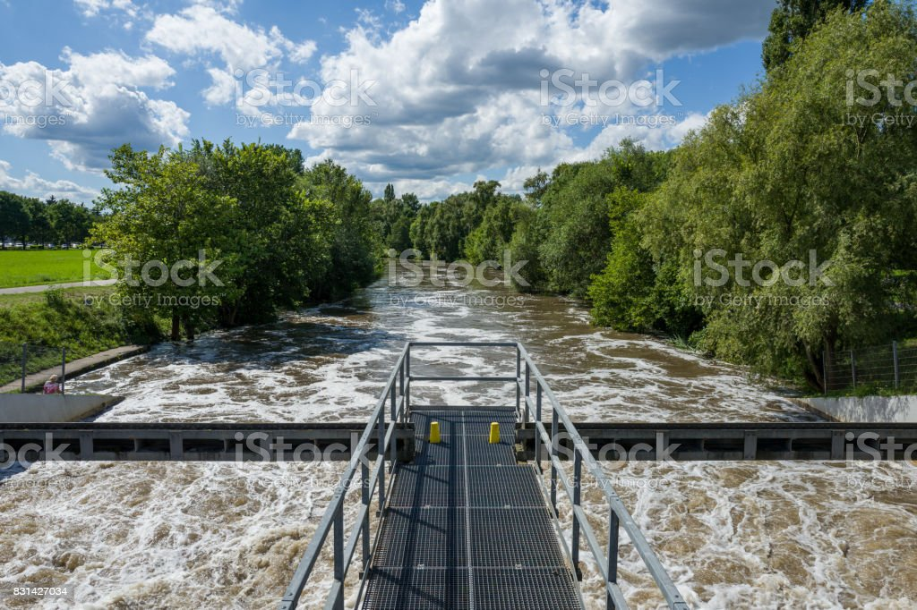 The Nidda in Frankfurt stock photo