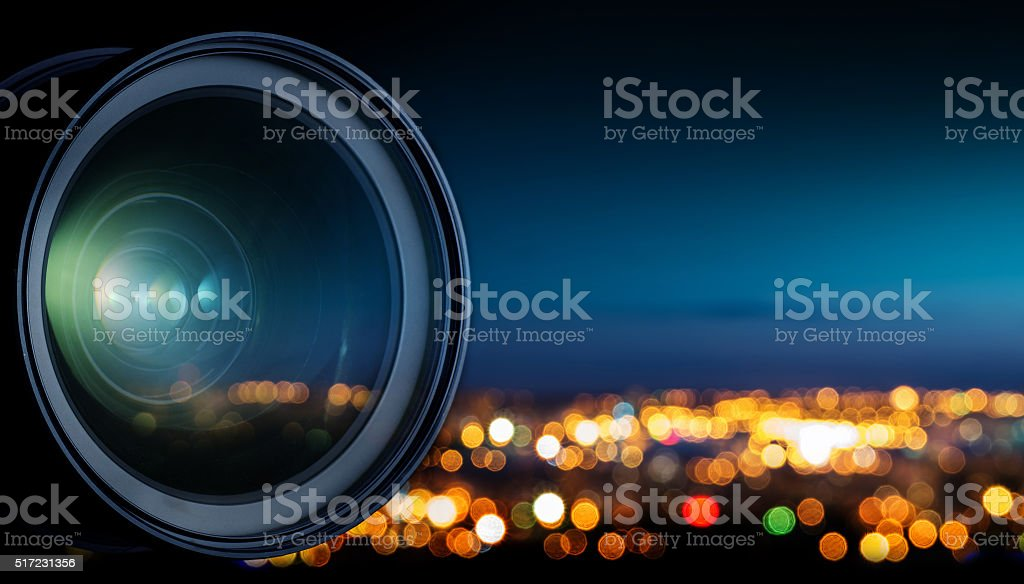 The night city stock photo