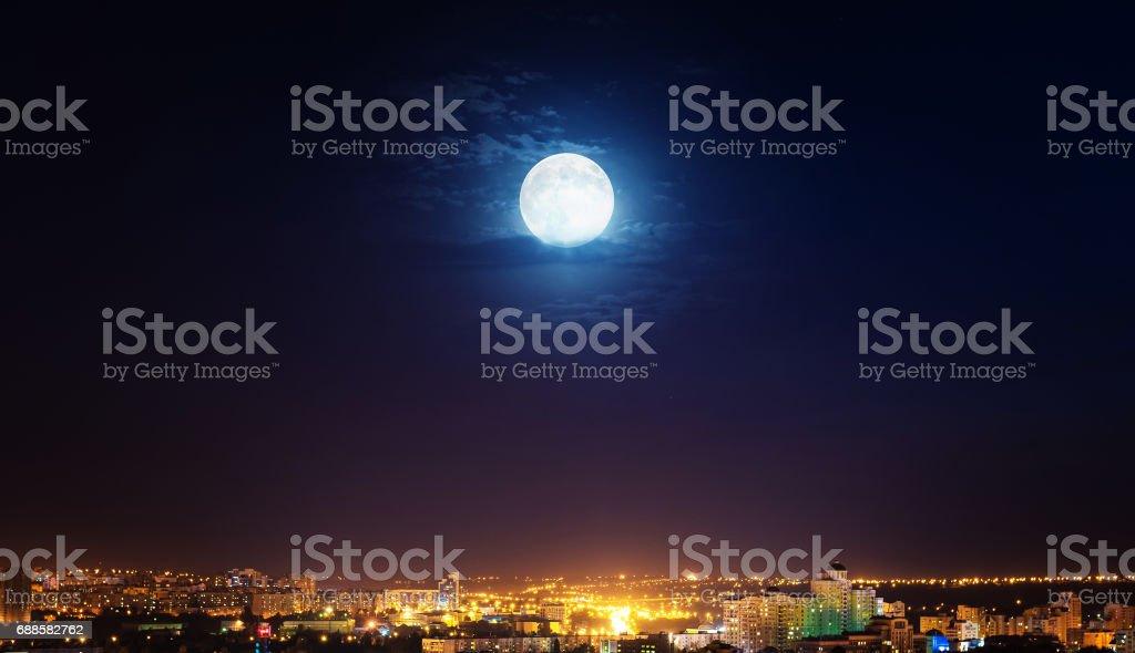 The night city stock photo