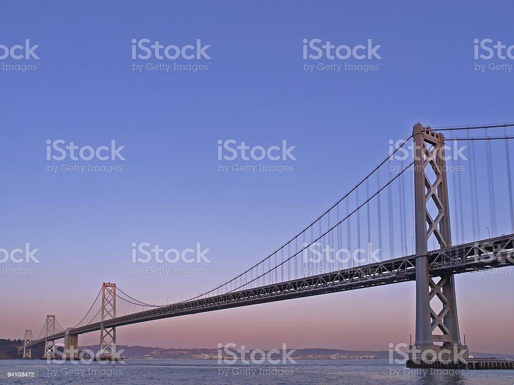 The Night Scene of Bay Bridge royalty-free stock photo