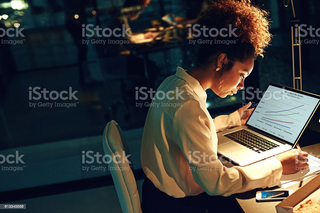 The night shift requires a special kind of worker... stock photo