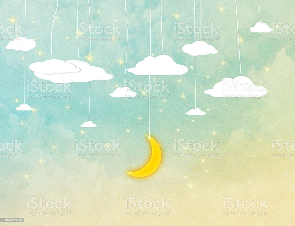 the night sky. royalty-free stock photo