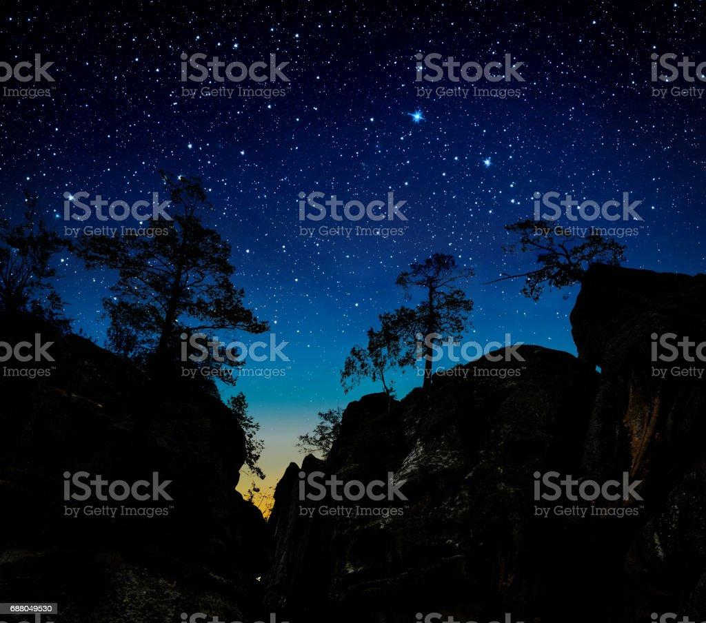 The night sky stock photo