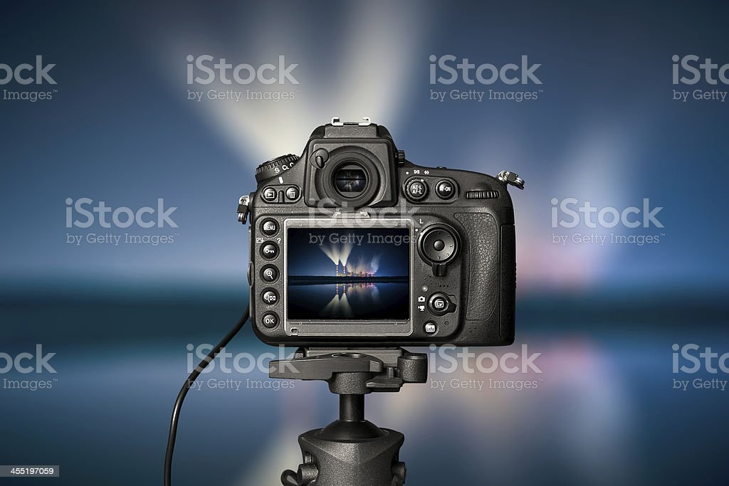 The night view of a digital camera stock photo