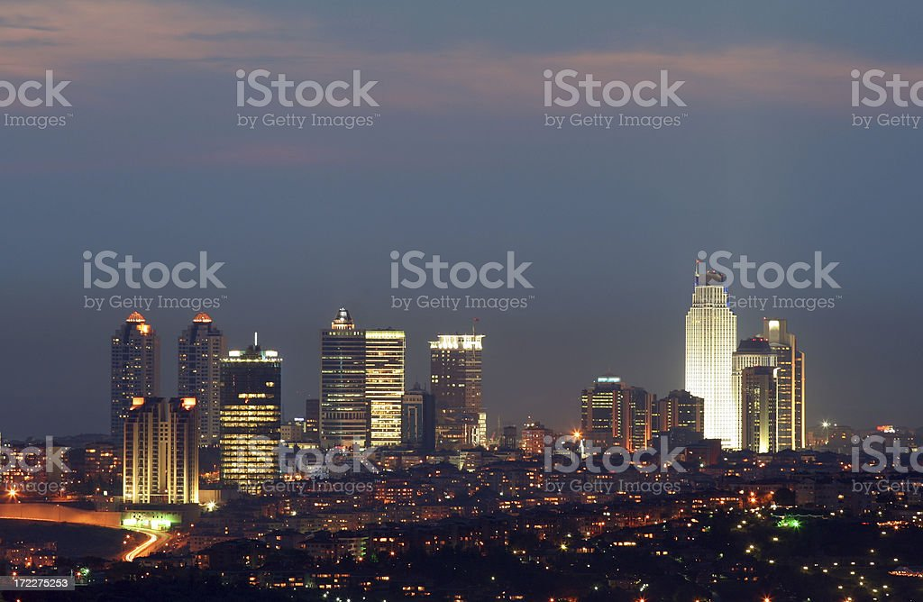 The night view of Istanbul - 9 royalty-free stock photo