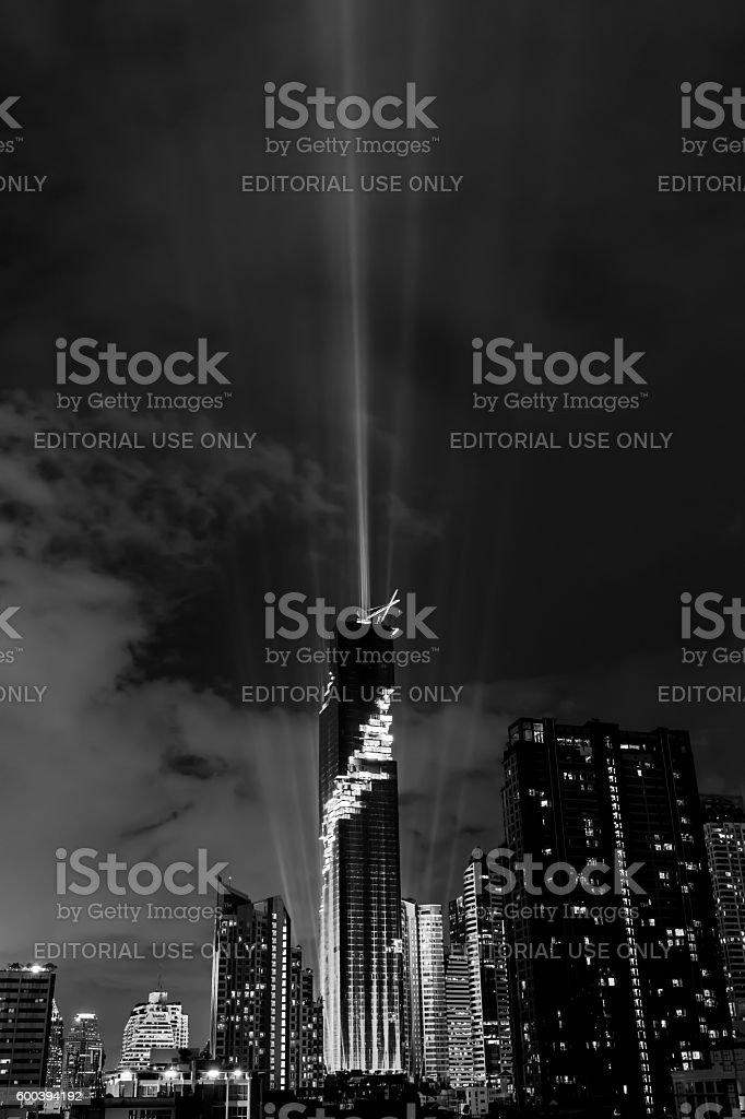 Bangkok, Thailand- August 29, 2016: The nightlight of Bangkok ci stock photo
