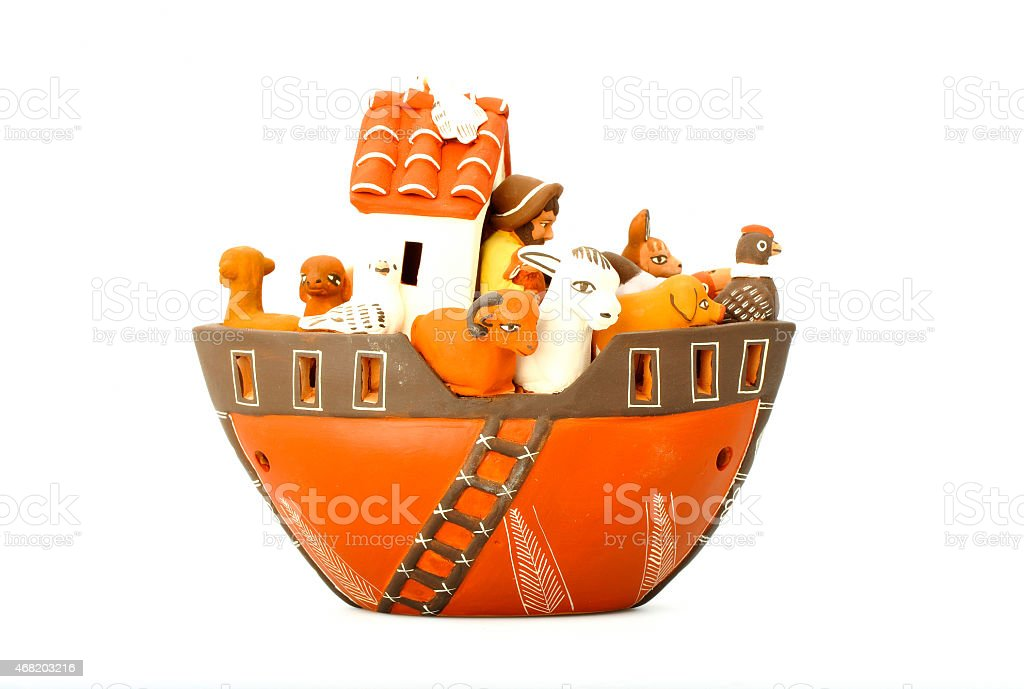 The Noah's ark - Peruvian arts and crafts stock photo