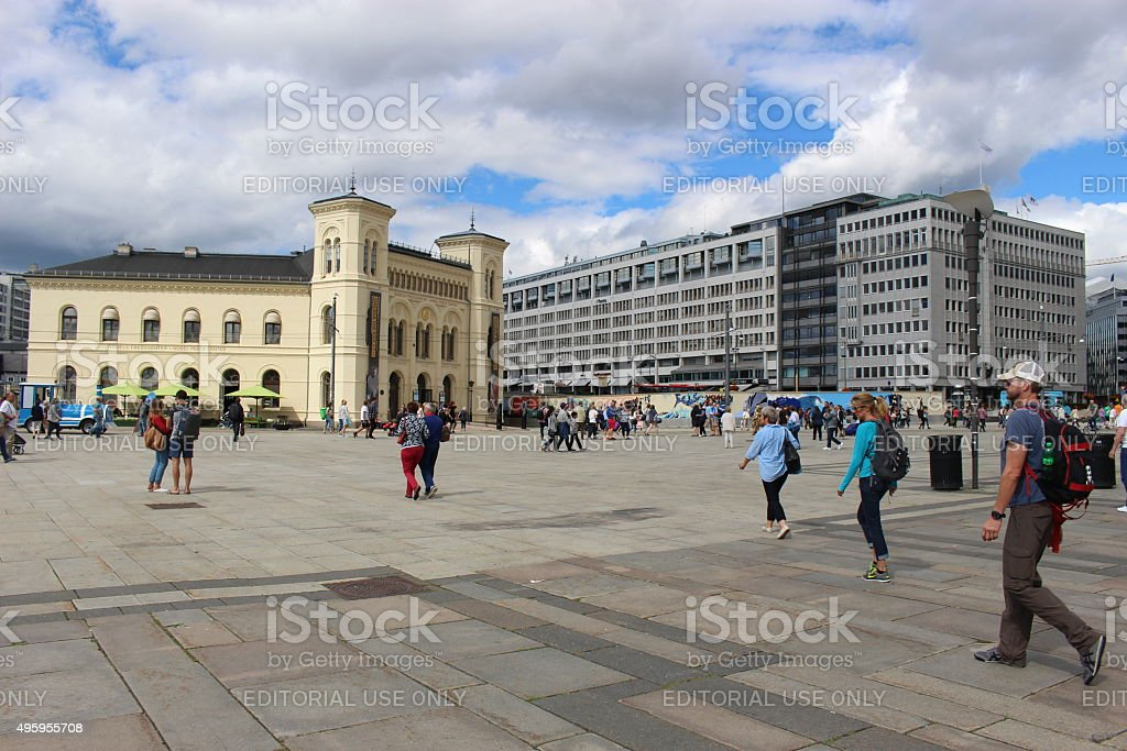 The Nobel Peace Center in Oslo, Norway. stock photo