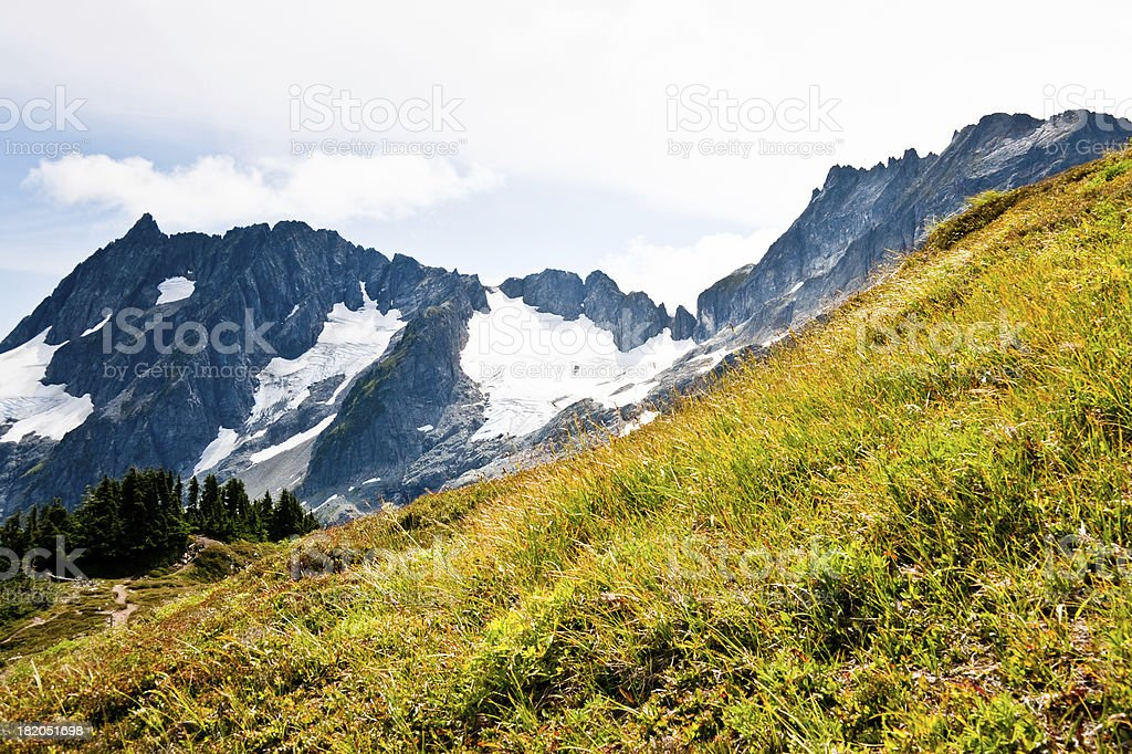 Mix-Up Peak From Sahale Arm royalty-free stock photo