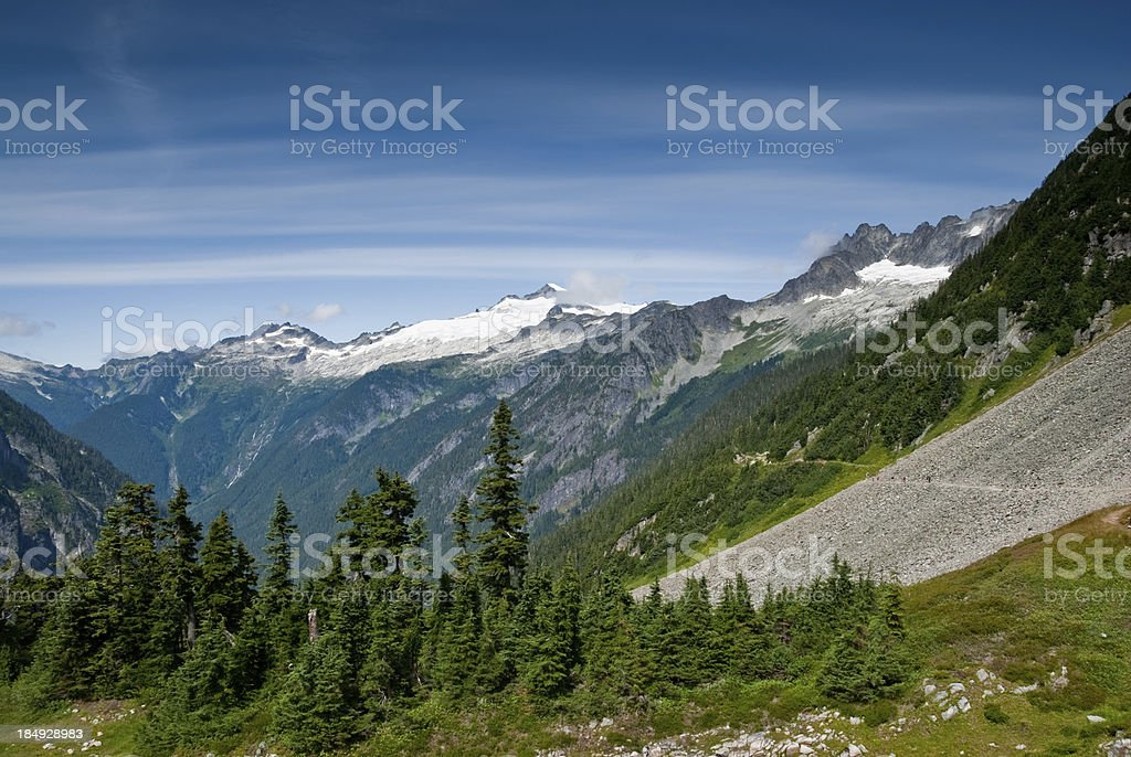 Cascade Pass Trail royalty-free stock photo