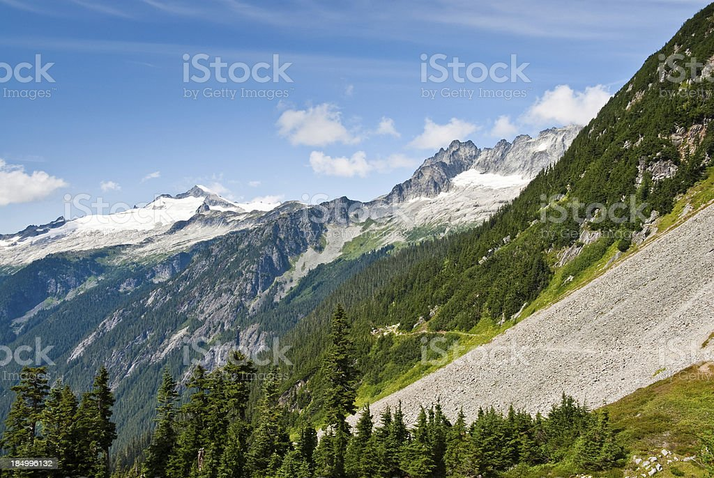 Forbidden Peak and the Cascade River Valley royalty-free stock photo