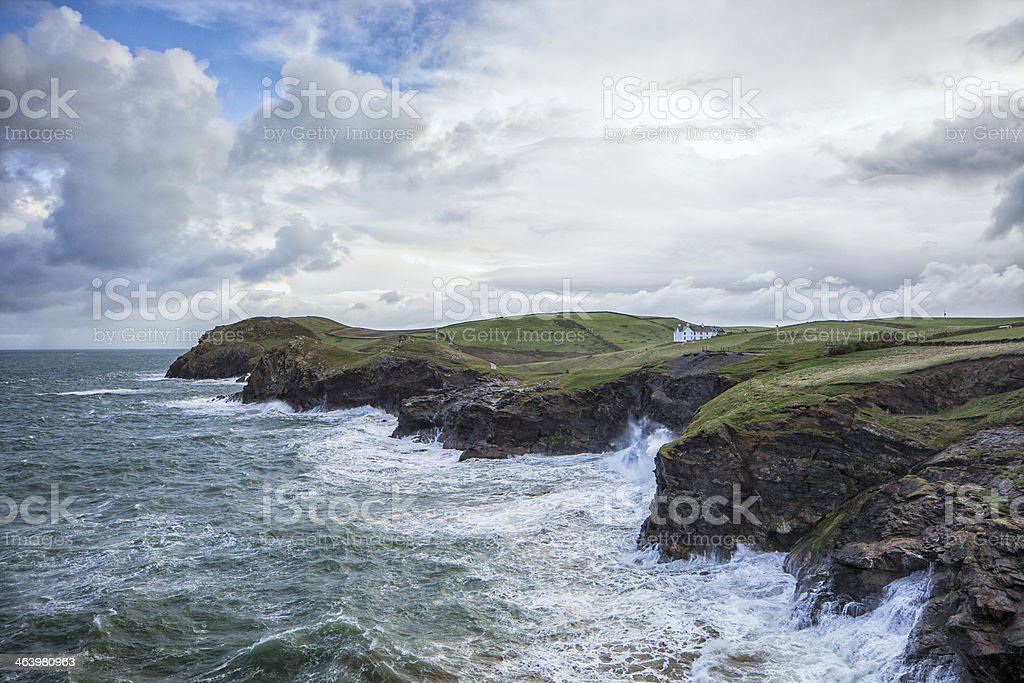 The North Cornish Coast at Port Quin stock photo