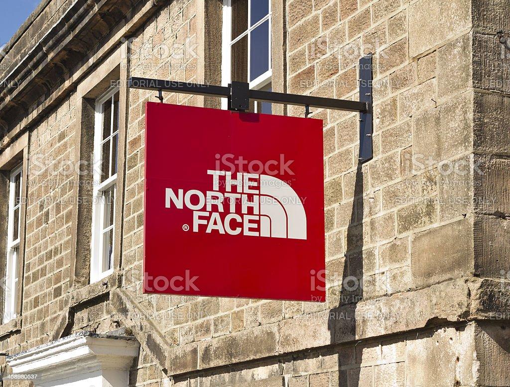 the north face logo stock photo